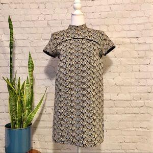 Zara Mod Jacquard Mini Dress - Sz XS